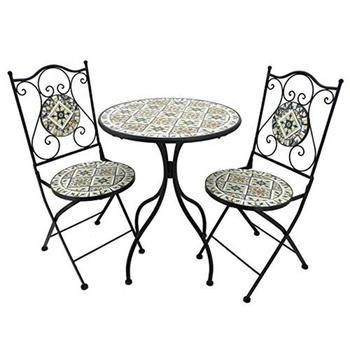 Mosaic Tile Bistro Set 1 Table 2