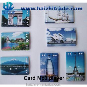 Populaire Mini Carte De Crdit Mince Lecteur MP3 Visite Mp3 128 MB