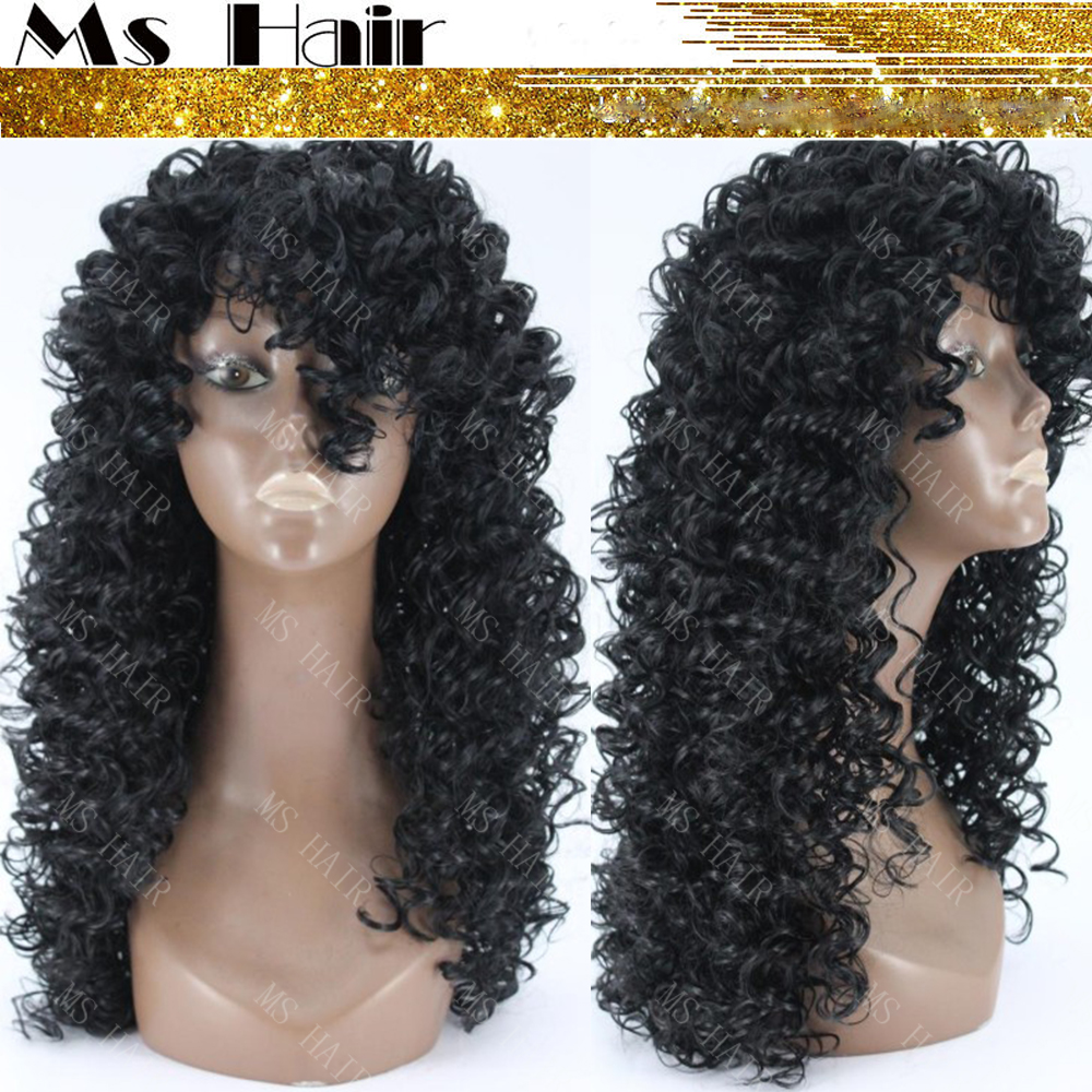 High Quality Afro tight Curly Synthetic Wig Cheap ...