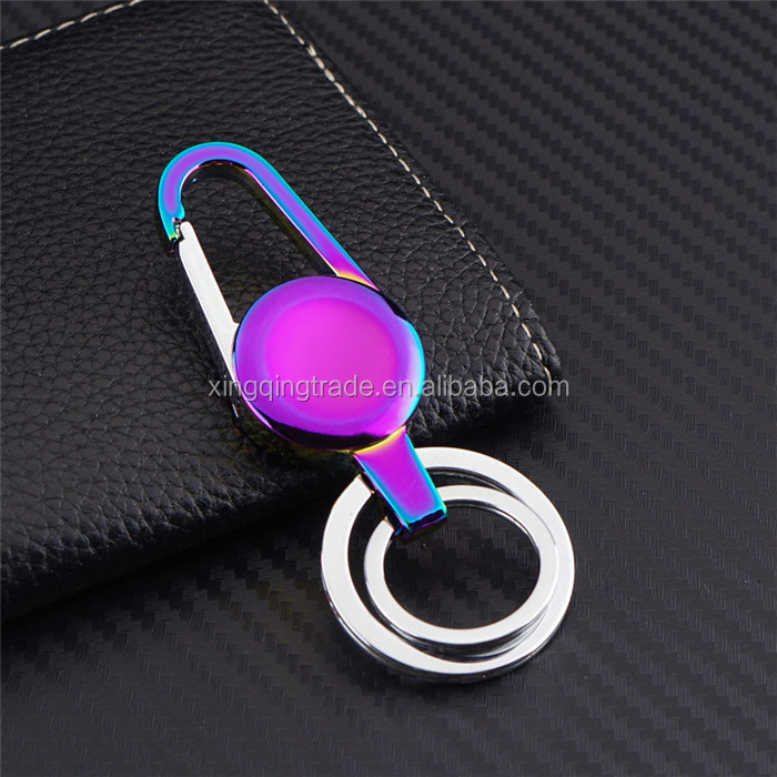 Fashion Keychain Men Metal colorful Key Chain Holder For Car