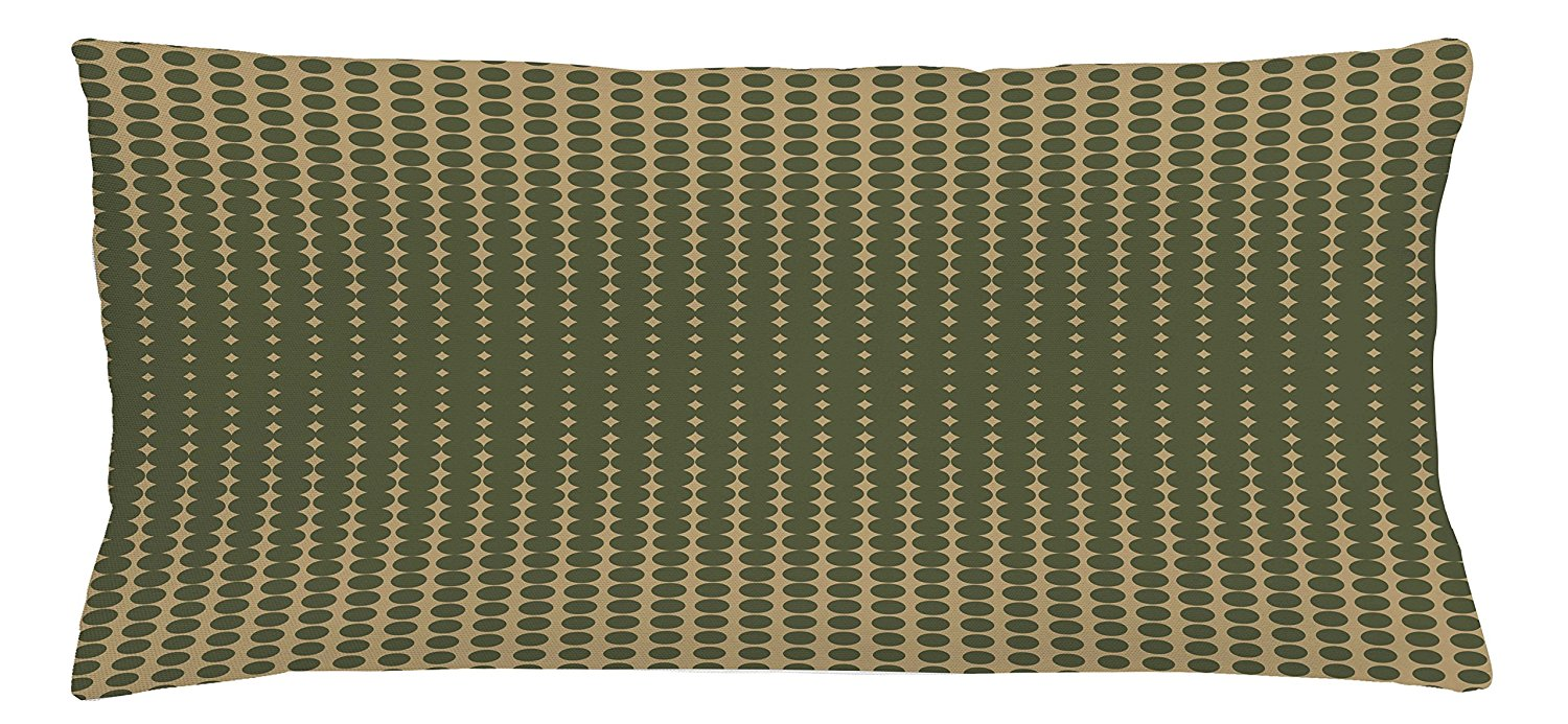 Get Quotations Ambesonne Olive Green Throw Pillow Cushion Cover Abstract Dotted Halftone Design Vintage Inspirations Geometrical