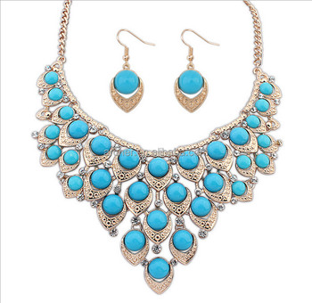 Fashion Dubai Gold Plated Jewelry Set18k Gold Plated Gold Necklace