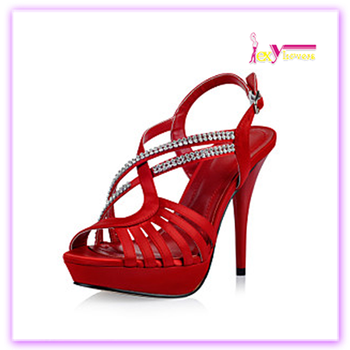 b1c9d0540 Charming bling bling diamond red satin wedding stiletto high heel sandals