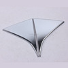 ABS Chrome Rear window Side Triangle sticker Cover For 2016-2017 Sportage