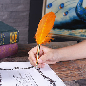 AYFP-0007 New fashionable stylish fountain feather quill pen set with ink