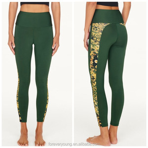 Recycled plastic bottles fabric your own design women sublimation yoga pants