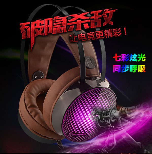 High Quality Gaming Headset OEM Headphones Portable Noise Cancelling Wired Gamer Headphone