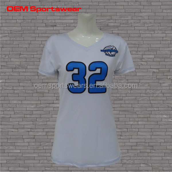 OEM service sublimation women volleyball team jerseys