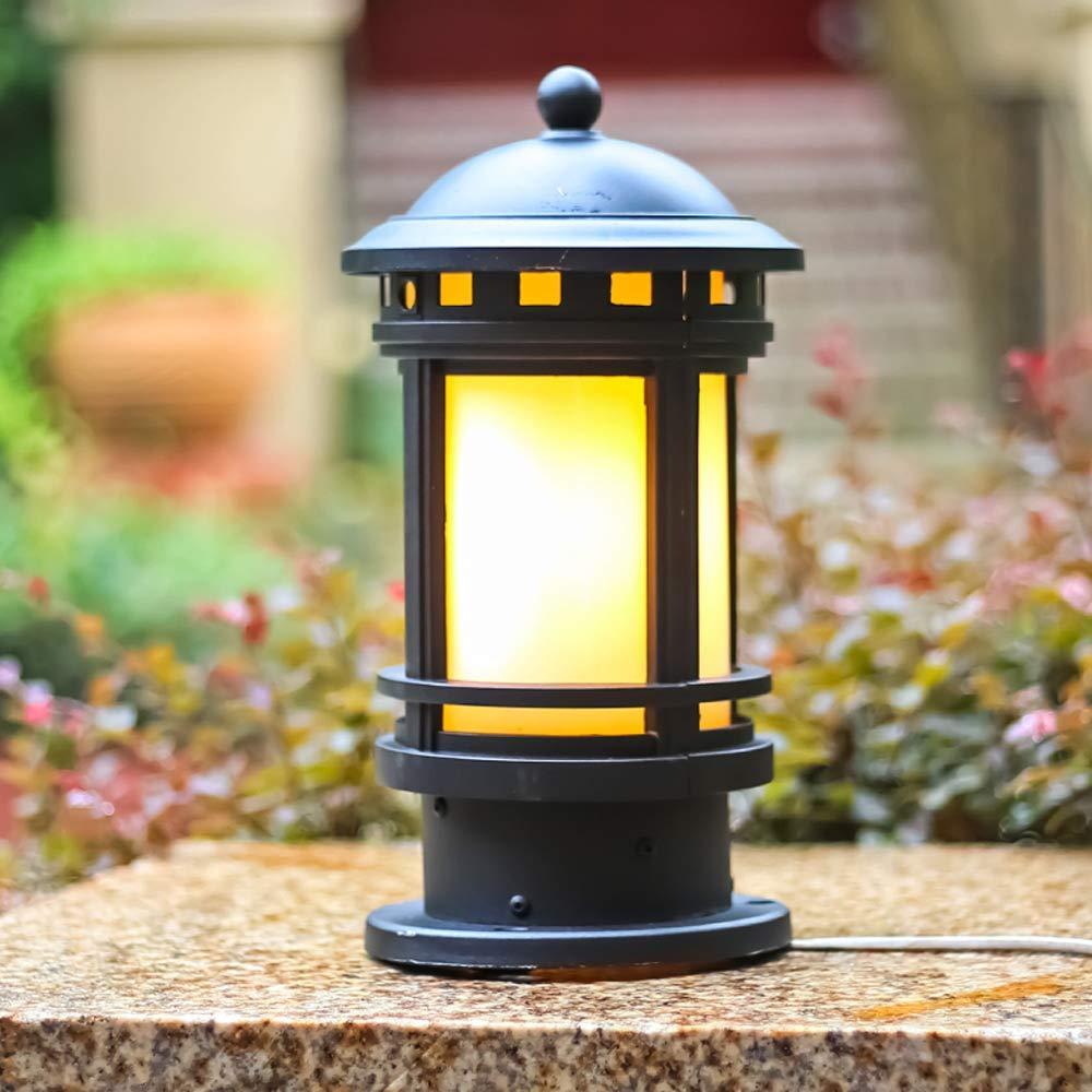 Exterior Aluminum Table Lamp Pillar Lantern Garden Waterproof Outdoor Lighting