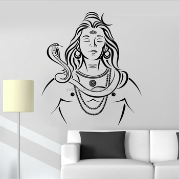 ya989 removable home decoration vinyl wall decals lord shiva