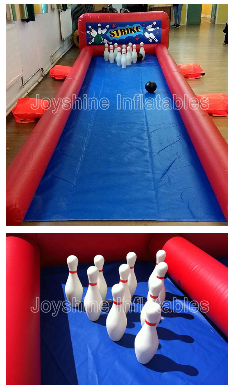 Giant Inflatable Human Bowling Pins Balloon Lanes Cheap Outdoor Inflatable Sport Bubble Bowling Ball Alley Set Game