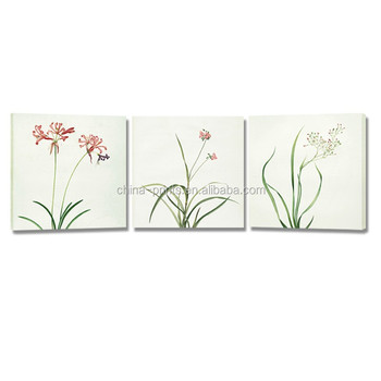 New Flower Canvas Printing Art Simple Picture For Wall Hanging 3 Panel Painting