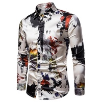 Wholesale high quality men's shirt fashion design long sleeve latest shirt for men