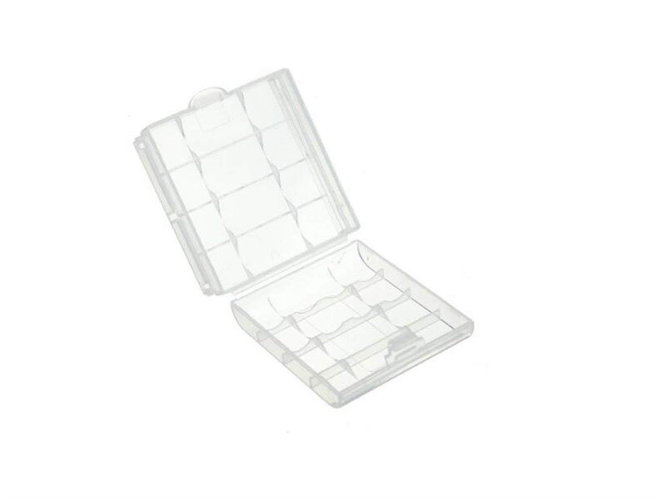 Yuchoi Perfectly Shaped 5Pcs AA/AAA Battery Hard Plastic Battery Case Holder Storage Box(Transparent)
