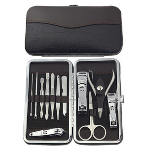 Nail Care Personal Manicure & Pedicure Set, Travel & Grooming Kit, 12 Piece manicure tools