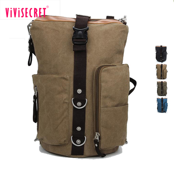 Personality Design Plain Large Canvas Mochila Backpack Wholesale Blank Book Bags With Good Quality