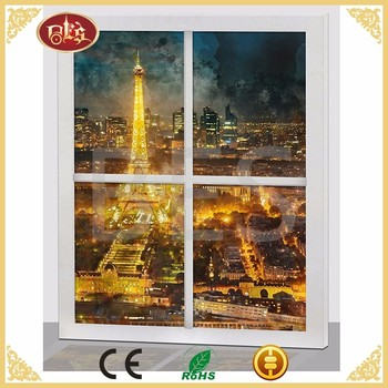 LED BES Eiffel Tower City Customise Canvas Painting