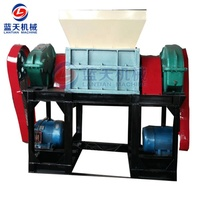 Industrial used automatic plastic shredder machine for recycling plastic bottles/bags