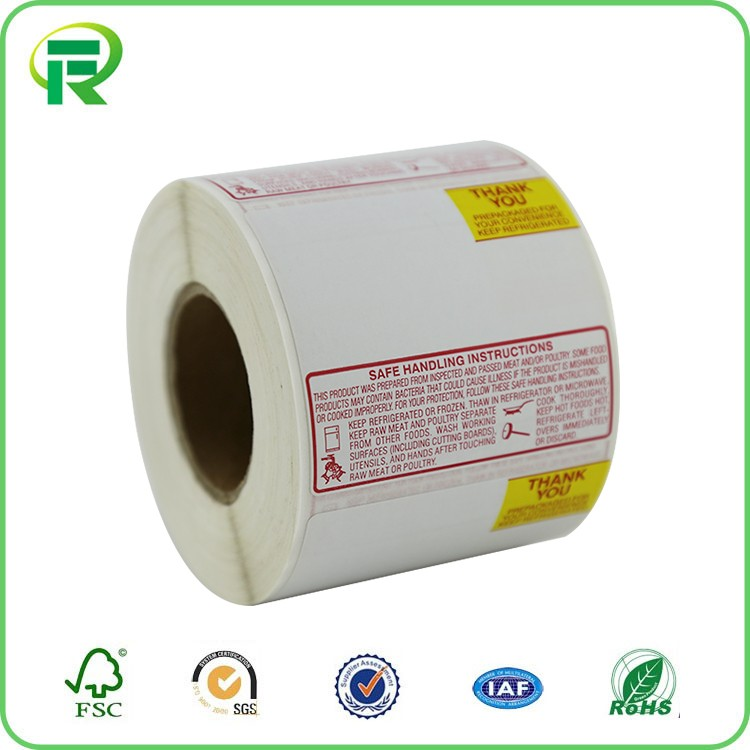 OEM color printed direct thermal paper label