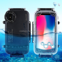Newest design 40m/130ft Waterproof Diving Housing Photo Video Taking Underwater Cover for iPhone X