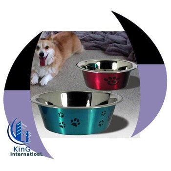 Stainless steel pet feeding bowl with bone printing  stainless steel food  bowl for dog 91ab4dd5a