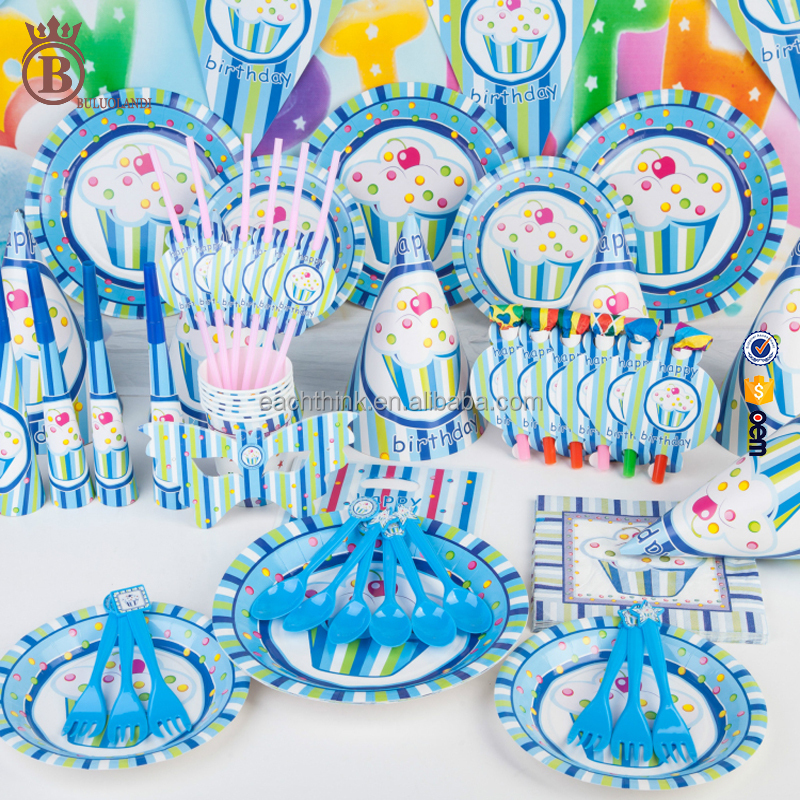 Hot Design Personalizado Favores Do Partido Decoração Set Happy Birthday Party Supplies