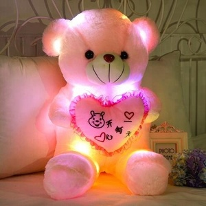 Creative Light Up LED Teddy Bear Toy/ Plush led bear Toy Colorful Glowing /Teddy Bear Christmas Gift Valentine's Day present