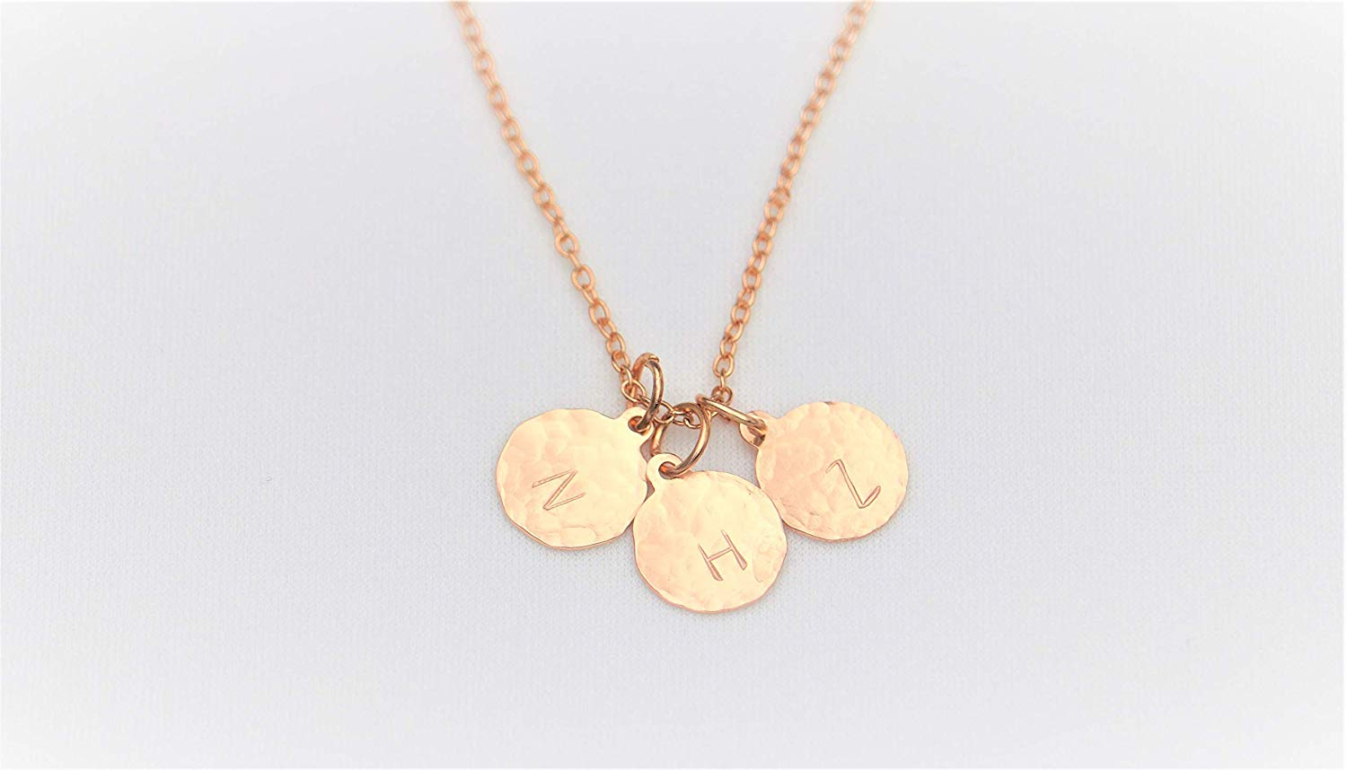 f25e70dd89c Get Quotations · Hammered Disc Initial Necklace Gold Filled Personalized  Hand Stamped Initial Disc Mother's day Necklace Dainty Necklace