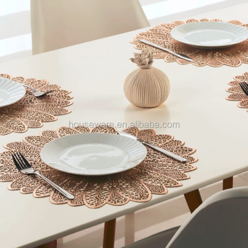 Flower Shape Placemat Pvc Placemat Round Placemat Buy Round Gold Placemats Dining Table Mat New Style Wedge Shaped Placemats Product On Alibaba Com