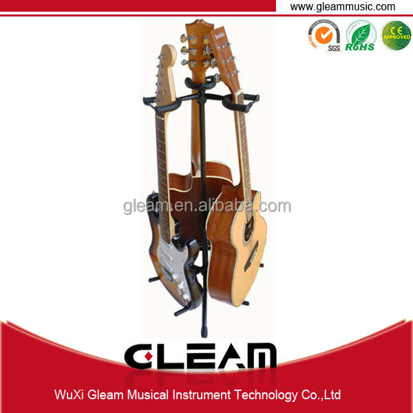 Three Headed Triple Upright Guitar Stand With High Quality