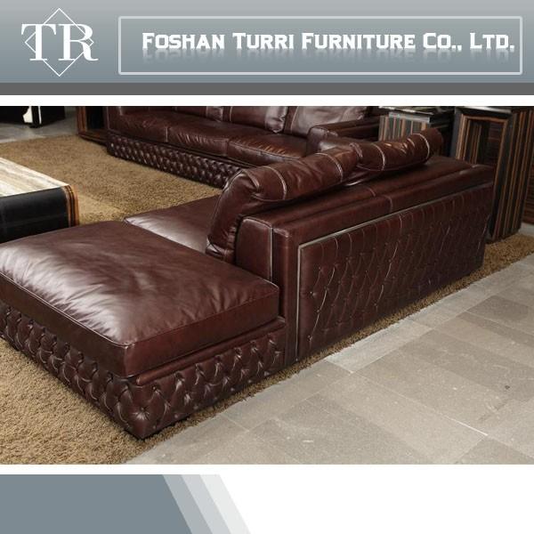 Luxus möbel aus italienischem leder chesterfield sofa für ...
