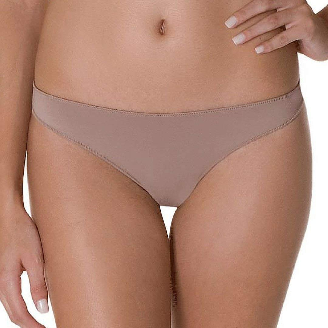 0580ac0ff70f Get Quotations · Gianine Bikini Nude Brazilian Thong Panty. Hipster Briefs  Women's Cheeky Underwear Tanga (Large)