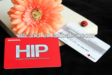 Hot Sell pvc business honda insurance package card