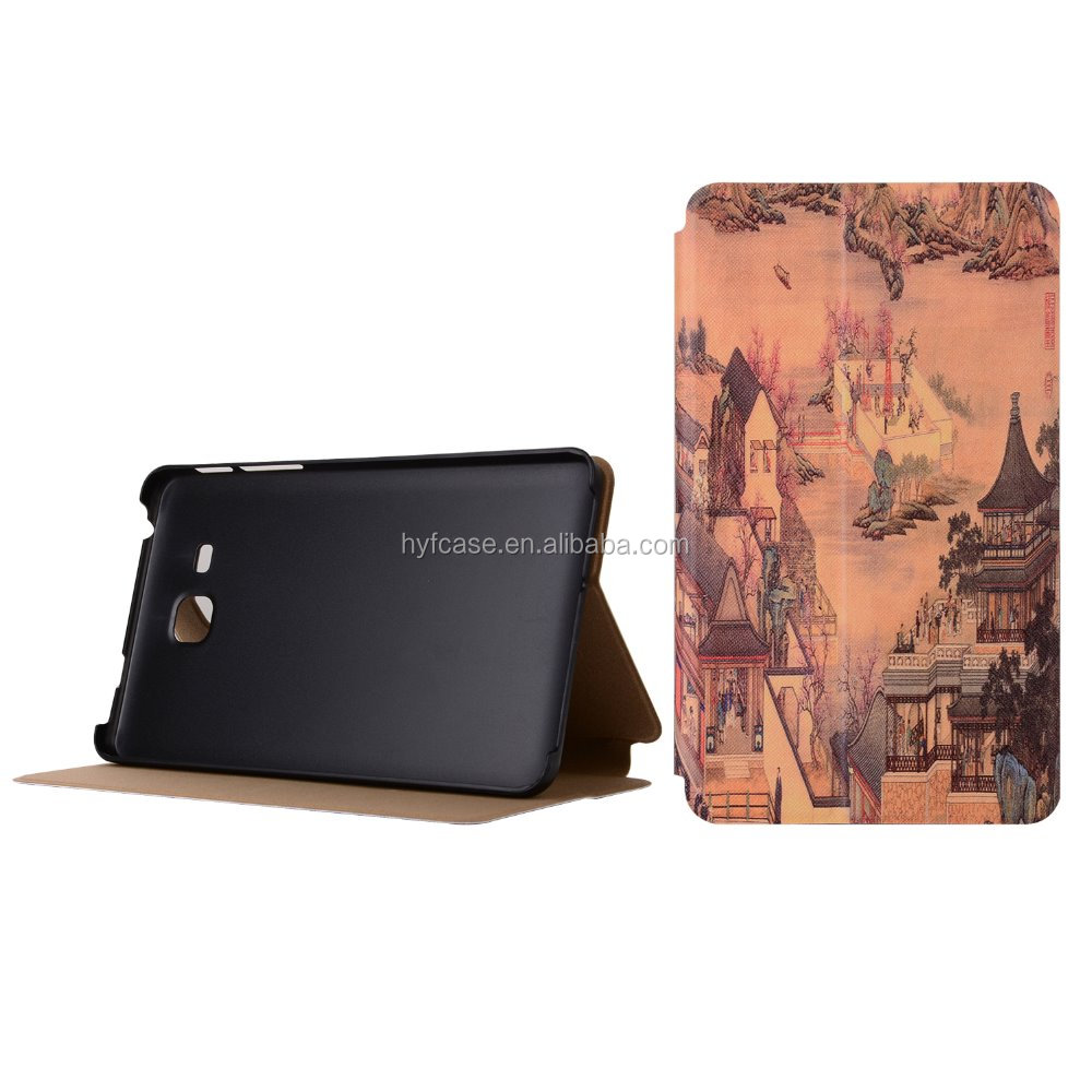 Tablet Stand Leather Case For Samsung Galaxy Tab T280 Leather Case