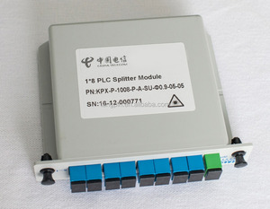 1x8 SC/UPC Insertion/smart Card LGX / cassette PLC splitter FTTH component