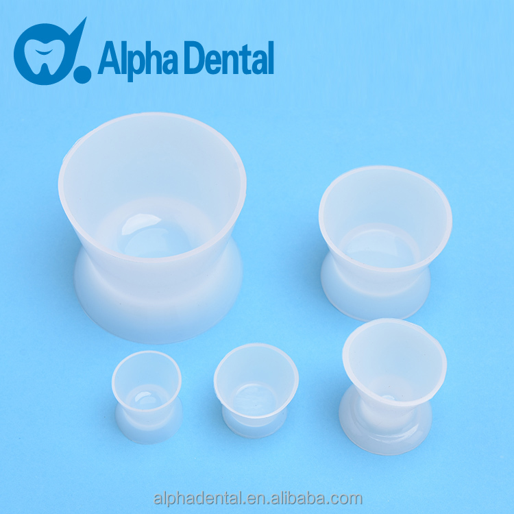 Dental transparent silicone rubber mixing bowl