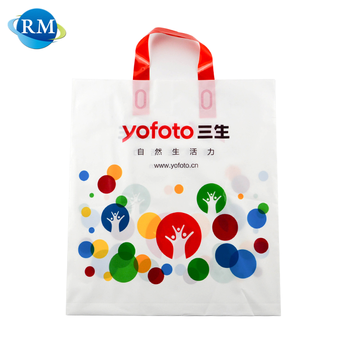 Wholesale Factory Plastic Shopping Handle Bag With Logo Print