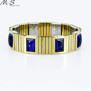 Stainless Steel Sapphire Bangle Design Gemstone Bangle
