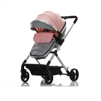 ZHILEMEI 2018 lightweight Baby Pram 2 In 1 Foldable baby pink stroller baby car seat