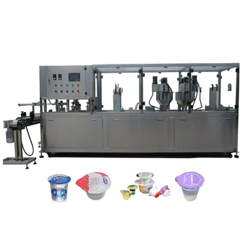 Red wine white wine plastic cup automatic  filling and sealing machine