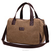 New design canvas over the shoulder travel bag for men with leather hand