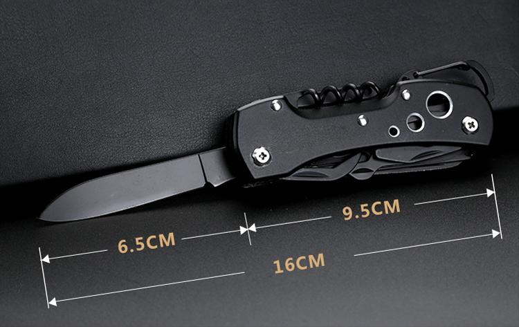 Titanium Black Multifunctional Swiss Knife Multi Purpose