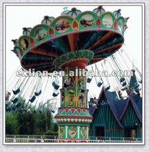 HOT!!!2012 Lovely Outdoor funfair musical swing rides flying chair