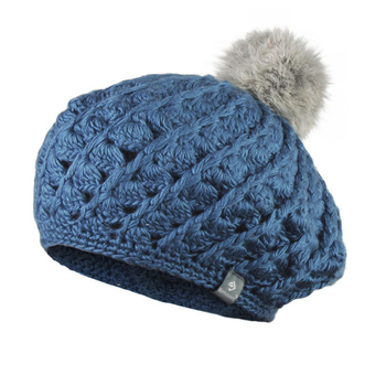 Fashion crochet pom pom hats wholesale knitted women winter hat beret beanie  cap fb5aa895e2
