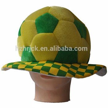 f0a194a53cefb0 Brazil fans football soccer hat Party Hats soccer balls winter popular  funny wool hats