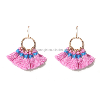 Bohemia Tassels Earrings For Women Beach Jewelry Long Handmade