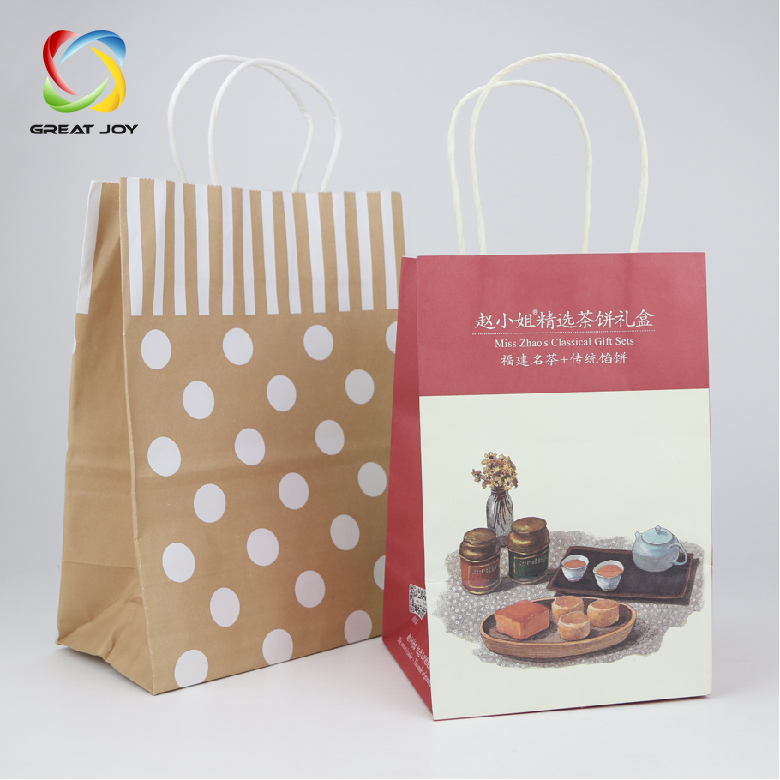 a6da6fb702c99 New Design Cheap Colorful Cmyk Custom Printed White Kraft Paper Bag ...