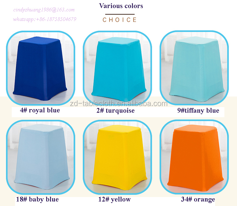 Cheap Stretch Spandex Plastic Stool cover for Dining Room