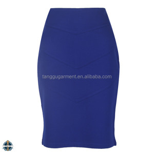 T1607 Women's Clothing Pictures Fashion Designer Office Skirt