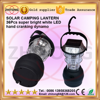 handheld 36 LED Solar Powered camping Lantern Handcrank Emergency Camping Light